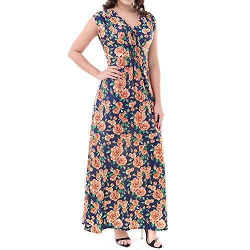 Kleid lang orange