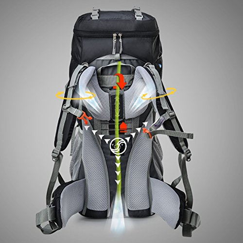 9be33440f9 Amazon.com   Mountaintop 65L Outdoor Hiking Backpack Camping Backpack  Internal Frame Bag