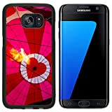 Luxlady Premium Samsung Galaxy S7 Edge Aluminum Backplate Bumper Snap Case IMAGE ID 31166480 View of top of heart hot air balloon during inflation with flame from basket