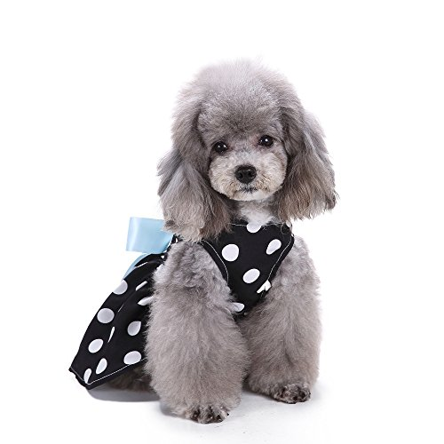 S-Lifeeling Sweet Fashion Dress Spring Summer Teddy Dog Clothes Pet Costumes]()
