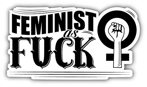 - Feminist Slogan Art Decor Bumper Sticker 6'' x 3''