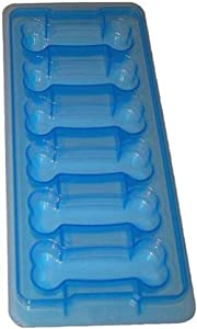 Home-X - Dog Bone Shaped Ice Cube Tray, Easy-Release, Food Grade, Large Ice Cube Tray Makes 6 Cubes Per Use, Stackable Design is Durable and Dishwasher Safe (Large Bones)