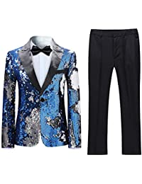 eb70ce2cd59 Boys 2 Pieces Suits Tuxedo Suit Shiny Sequins Peak Lapel Slim Fit Jacket  Pants Party Performance