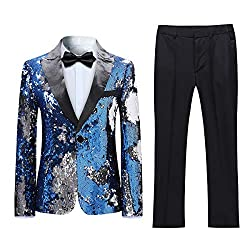 2 Pieces Sequins Suits