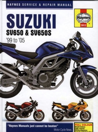 suzuki sv650 sv650s 1999 to 2005 haynes service repair manual suzuki sv650 sv650s 1999 to 2005 haynes service repair manual matthew coombs phil mather 9781844252619 amazon com books