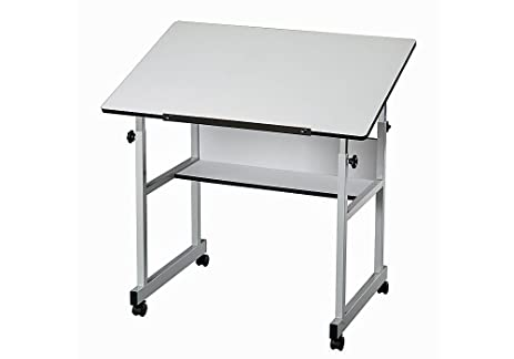MiniMaster Four Post White Drafting Table Dimensions: 36u0026quot;W X 24u0026quot;D