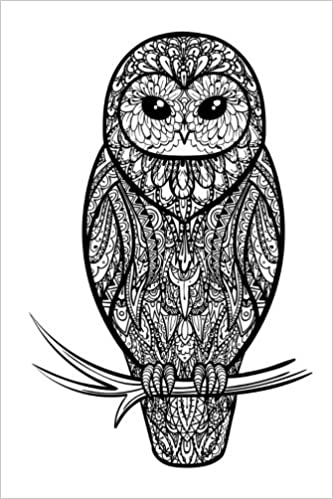 Amazon Com Color My Cover Halloween Journal Zentangle Owl 100 Page 6 X 9 Ruled Notebook Coloring Journal Blank Notebook Blank Journal Lined Notebook Blank Diary Volume 9 9781978488762 Journals Colour My