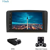 XISEDO Android 5.1 Car Stereo 9 Inch Head Unit GPS Navigation Support 1080P Video, WiFi, Bluetooth 4.0 for BENZ M300 ML350 ML450 ML500 G320 GL350 G420 GL450 GL500 with Free Rear-view Camera and DVR