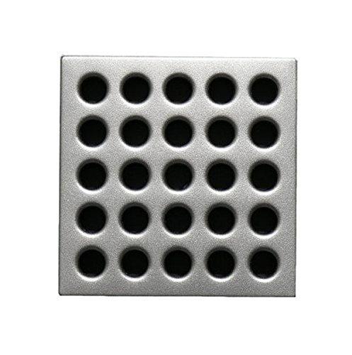 Ebbe E4410 Square Shower Drain Grate, Satin Nickel