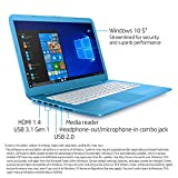 HP Stream 14-inch Laptop, Intel Celeron N4000 Processor, 4 GB RAM, 32 GB eMMC, Windows 10 S with Office 365 Personal for one Year (14-cb110nr, Blue)