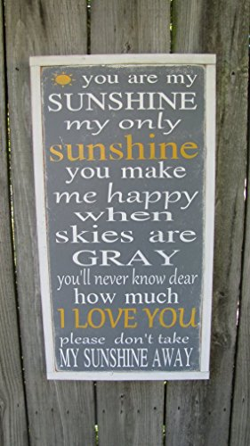You Are My Sunshine Wooden Sign Inspirational Wood Sign Kids Room Wall Art Childrens Room Decor Nursery Wall (You Are My Sunshine Wooden Sign)
