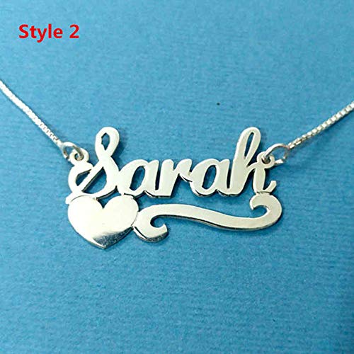 2 Rose Gold Color China 50cm Custom Heart Name Necklaces Women Gold Chains Necklace Personalized Jewerly Customized Silver Colar Feminino Com Pingente Bijoux LTH12 Name Jewerly