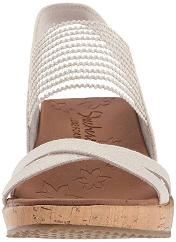 Beige Natural Punta Aperta High Donna Skechers a Sandali Beverlee Tea 8nw1f