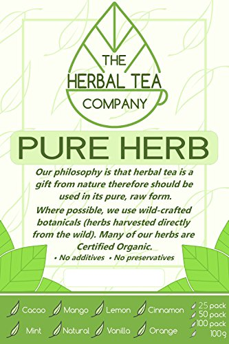Prickly Pear Pure Herbal Tea Bags With Natural Flavour 25 Pack
