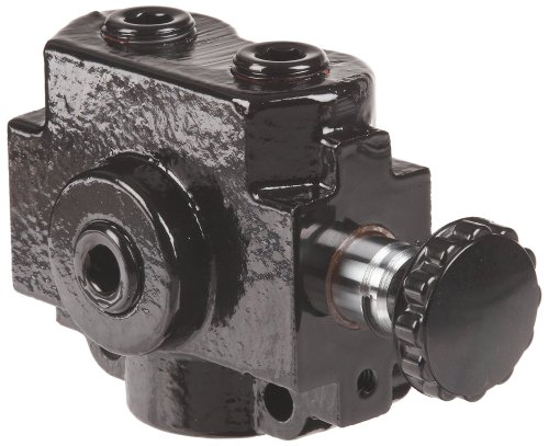 """Prince SS-2A1D Selector Valve, 3 Ways, 2 Positions, Cast Iron, 2500 psi, 20 gpm, 1/2"""" NPTF"""
