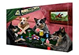 Home of Australian Cattle Dog Dogs Playing Poker Canvas Gallery Wrap 1.5'' Inch (11x14)