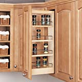 Custom Kitchen Cabinets Rev-A-Shelf - 448-WC-5C - 5 in. Pull-Out Wood Wall Cabinet Organizer