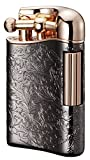 Sarome Flint Cigarette Lighter SD12-29 Antique silver arabesque / Rose gold