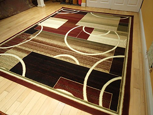 Contemporary Rug Multi Colored Area Rugs 8x11 Rug Red Rug
