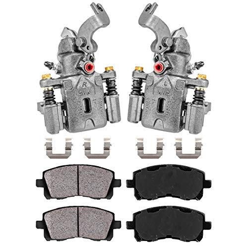 Callahan CCK04515 [2] REAR Premium Original Brake Caliper Pair + Ceramic Pads + Hardware [ for Hyundai Elantra Tiburon ]