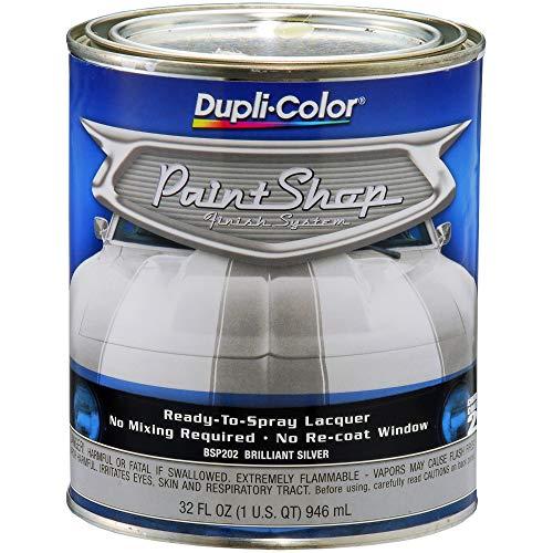 (Dupli-Color BSP202 Brilliant Silver Metallic Paint Shop Finish System - 32 oz. )