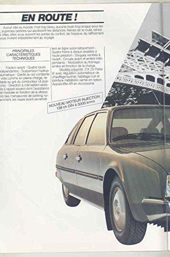 Amazon.com: 1984 Citroen CX25 Prestige Brochure Pallas IE D RD TRI Turbo Limo French: Entertainment Collectibles