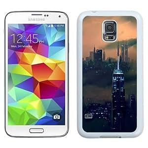 NEW Unique Custom Designed Samsung Galaxy S5 I9600 G900a G900v G900p G900t G900w Phone Case With New Zeeland Skyline Dark Fog_White Phone Case