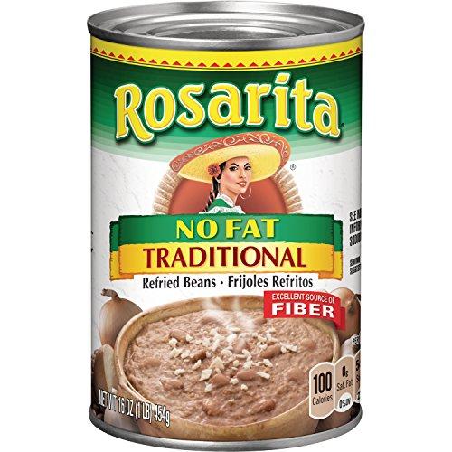 (Rosarita No Fat Traditional Refried Beans, 16 oz)