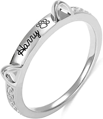 PAW ring Sterling silver 925 Dog ring Cat Animal lover gift Puppy Kitten jewelry Fur Mom gift Handmade jewelry