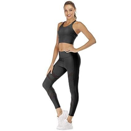 RenshenX Yoga Set Chandal,Conjunto Sujetador Deportivo con ...