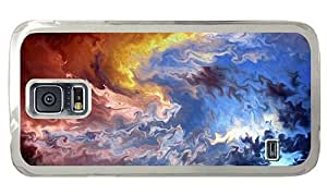Hipster Samsung Galaxy S5 Case sell multicolor abstract art PC Transparent for Samsung S5