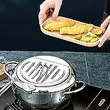 Deep Frying Pan,Temperature Control Fryer,Tempura