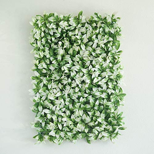 Efavormart-4-Pack-11-Sq-ft-Artificial-Boxwood-Hedge-Faux-Elliptical-Leaves-Foliage-Green-Garden-Wall-Mat-WhiteGreen