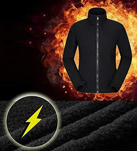 Men's 1 Detachable Liner Windproof Fleece Waterproof Jacket Outdoor Jacket Green rwXzq4r