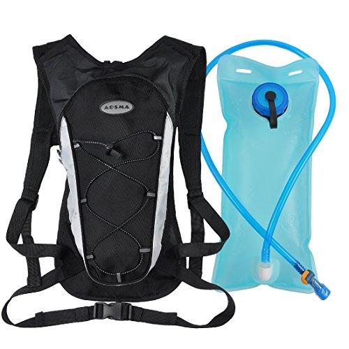 Hydration Pack with 2L Backpack Water Bladder Professional Lightweight Outdoor Tactical Survival Reservoir Men Women Kids Camping Hiking Running Biking Bag