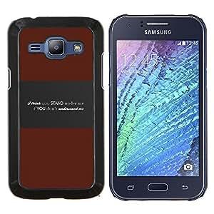 LECELL--Funda protectora / Cubierta / Piel For Samsung Galaxy J1 J100 -- Entender Me mensaje profundo --