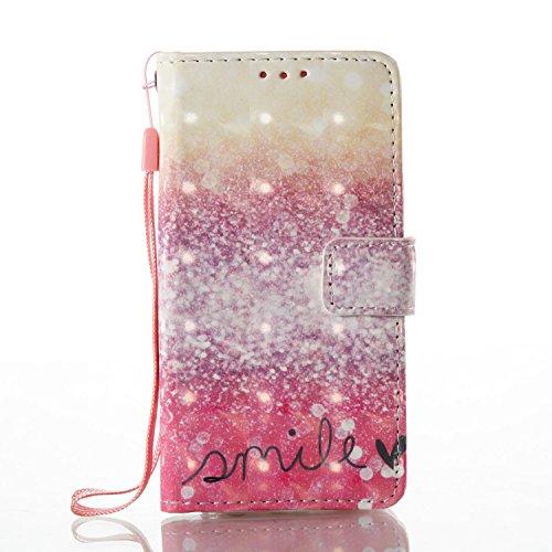 Para Samsung Galaxy A3(2016)SM-A310F funda, (desierto sonrisa) pintura 3D caja del teléfono de la PU patrón en relieve ,Función de Soporte Billetera con Tapa para Tarjetas correa de mano soporte para  desierto sonrisa