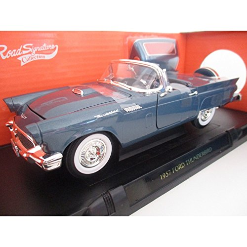- Road Signature 1957 Ford Thunderbird Blue 1/18 Diecast Model Car