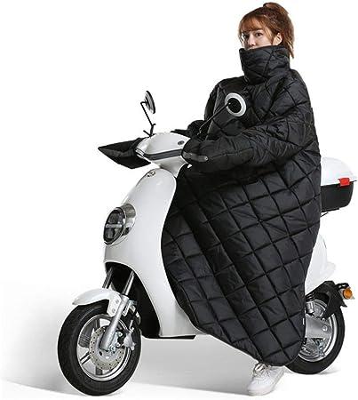 Tablier Couvre Jambe Scooter Coupe-Vent Hiver Couette Moto Couverture /Épaisse Chaude avec des Gants Nuit Pare-Brise Anti-reflet