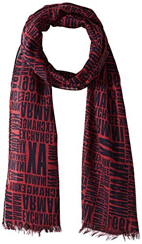 Armani Exchange Men's Typography Logo Scarf, BS Chocolate W/Typog, TU by A|X Armani Exchange