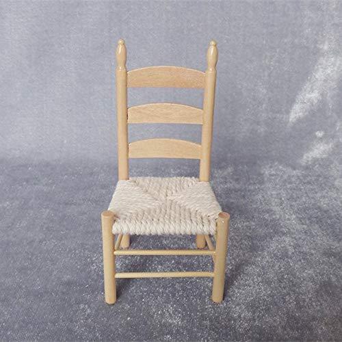 (Brosco 1:12 Miniature Chair Toy for Dolls House DIY Accessories Decor Mini)