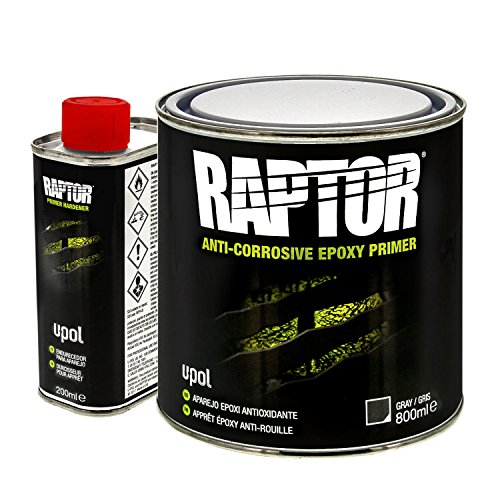 U-POL 4831 Raptor 4:1 Anti-Corrosive Epoxy Primer Kit, Gray, 1L Kit