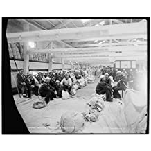 16 x 20 Gallery Wrapped Frame Art Canvas Print of U S S Vermont recruits waiting to be transferred 1896 Detriot Publishing co. 92a