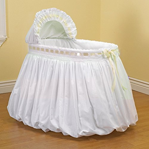 Baby Doll Bedding Pretty Ribbon Bassinet, ecru - Ecru Bassinet
