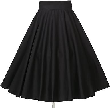 Candow Look 40s 50s Vintage Negro Full Circle Rockabilly Swing Falda