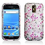 Aimo Wireless SAMT989PCLMT040 Durable Rubberized Image Case for T-Mobile Samsung Galaxy S2 T989 - Retail Packaging - Love You