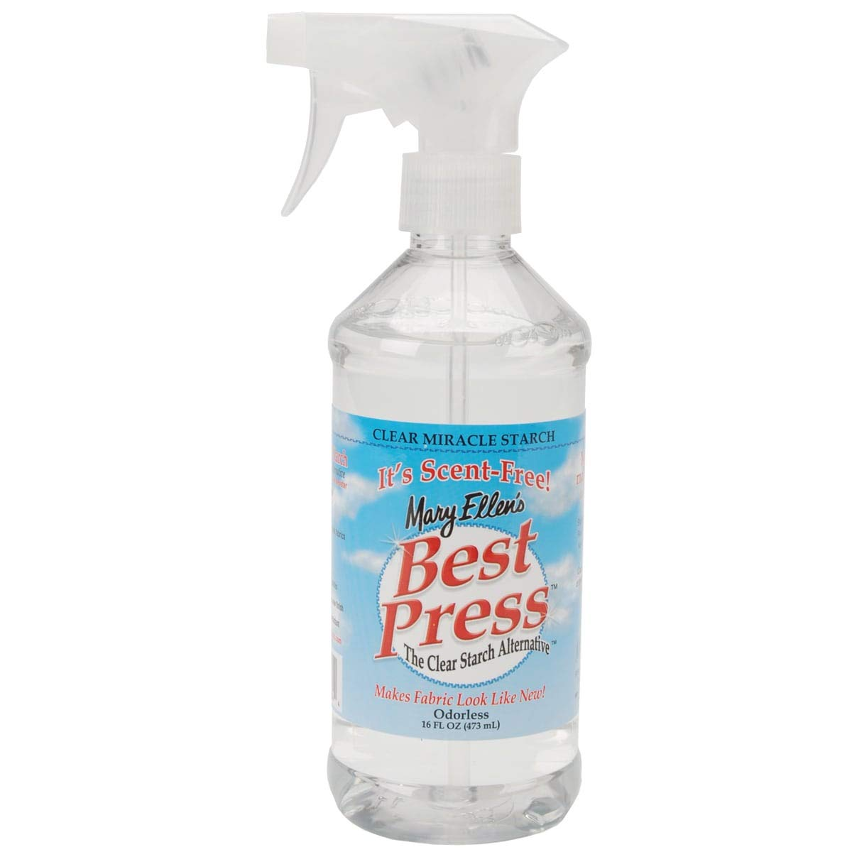 Mary Ellen's Best Press, Clear Starch and Sizing Alternative, Scent-Free, 16.9 Ounce by Mary Ellen Products