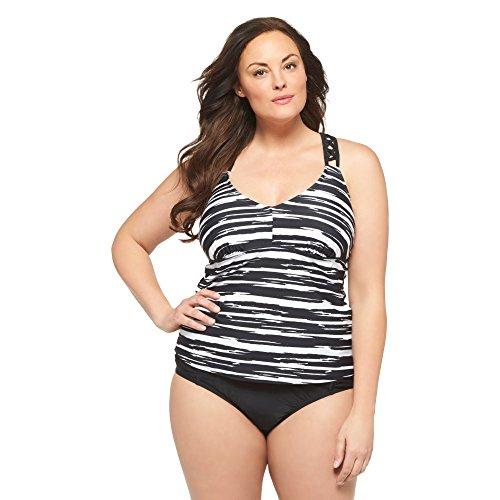365d5f5c6a329 Ava   Viv Women s Plus Size Racer-Back Tankini Swim Top (22W
