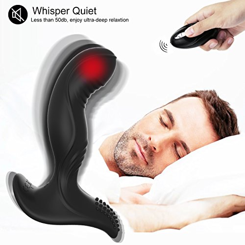 Vibrating Prostate Massager Anal Sex Toys - Adorime Wireless Remote Control Silicone Anal Vibrator Butt Plug with 7 Stimulation Patterns for Men Women and Couples