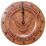 Personalized Air Force Retirement Gift, Wooden Wall Clock Air Force Veteran Gift, Personalized Retirement Clock